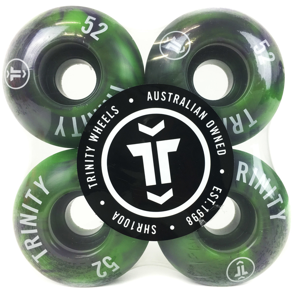 Trinity Wheels 52mm (100a) Green/Purple Swirl